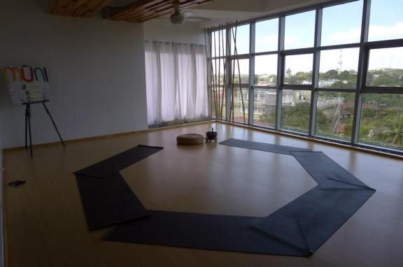 Meditation space at White Space Wellness Studio